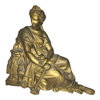 Seated Woman Classical Clock Top Figure