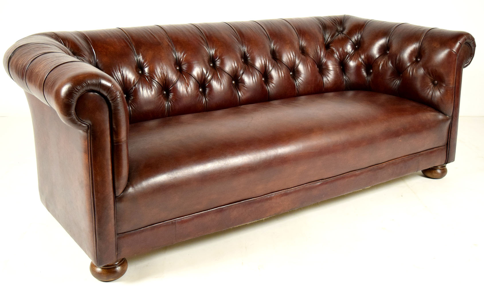 Vintage Chesterfield Leather Sofa Chairish