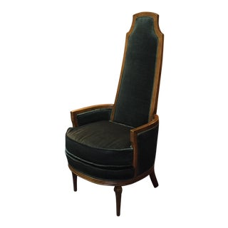 Hollywood Regency Highback Throne Armchair