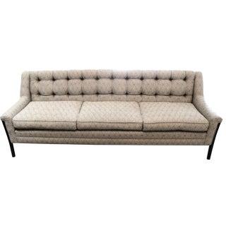 Mid-Century-Style Sofa with Walnut Legs