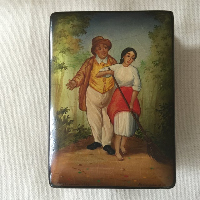Russian Lacquer Box - Image 2 of 4