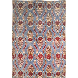 Aara Rugs Inc. Hand Knotted Ikat Rug - 10′2″ × 13′7″
