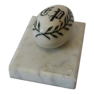 Victorian Marble Egg Paper Weight
