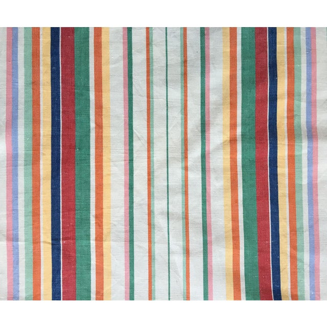 "Ralph Lauren ""Didier Stripe"" Cotton Linen Fabric - Image 1 of 3"
