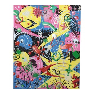 """Kenny Scharf 1997 """"Grammy"""" Signed Lithograph Poster"""