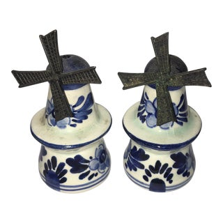 Blue Delft Salt & Pepper Shakers - a Pair