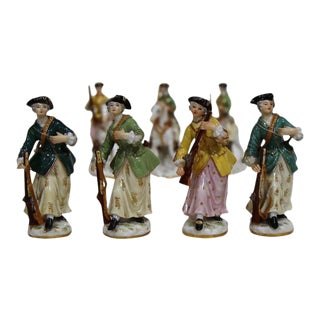 Meissen Porcelain Huntresses Figurines - Set of 7
