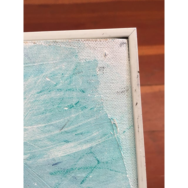 Framed Abstract Pastel & Plaster on Canvas Board - Image 5 of 6