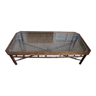 Regency Style Faux Bamboo Coffee Table