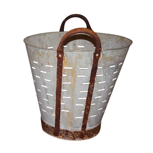 Image of Vintage Metal Olive Bucket