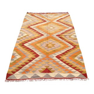 "Vintage Turkish Kilim Rug - 4'8"" x 7'4"""