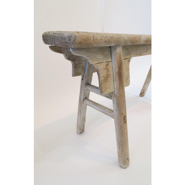 19th Century Oak Mortised Bench - Image 5 of 7