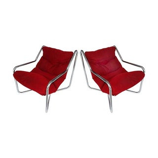 Vintage Chrome Sling Chairs - A Pair