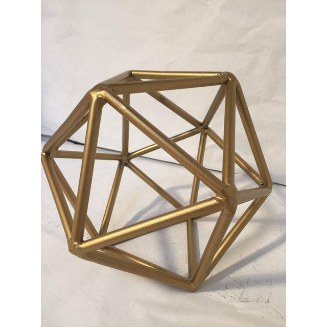 Gold Metal Geometric Decor Piece - Image 2 of 5