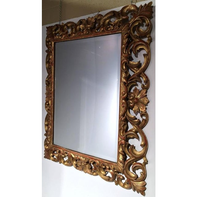 19th Century French Carved & Gold Leaf Rectangular Wall Mirror - Image 2 of 6