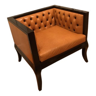 Low Rise Ostrich Leather Chair