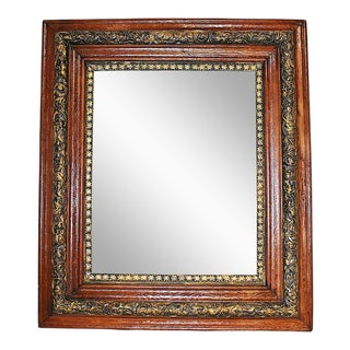 Antique Oak & Gilt Mirror
