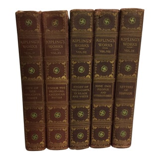 The Sahib Edition of Rudyard Kipling 5 Volumes C. 1910 - 1920
