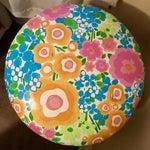 Image of Vintage Floral Print Vinyl Stool