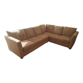 Macy's L-Shaped Suede Sectional Sofa