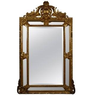 Antique French Louis XVI Gilt Wood Marginal Mirror