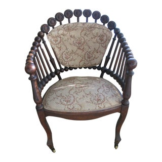 1870 Hunzinger Lolipop Chair with Original Fabric