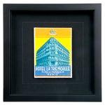 Image of Framed French La Tremoille Hotel Luggage Label