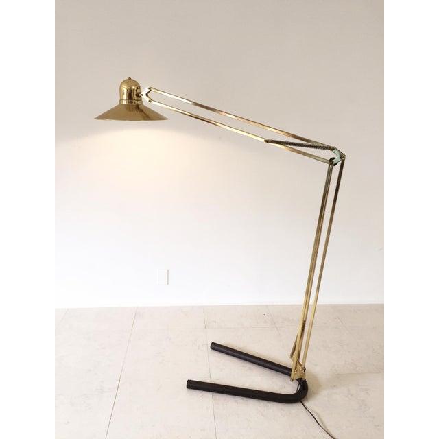 Image of Vintage Brass Floor Lamp Alsy Grasshopper