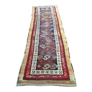 Antique Caucasian Persian Runner - 3′2″ × 10′5″