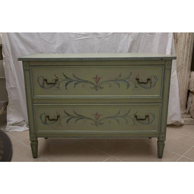 19th Century American Continental Green-Painted Chest - Image 6 of 9