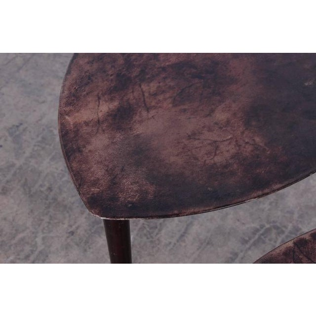 Pair of Goatskin Nesting Tables by Aldo Tura - Image 9 of 10
