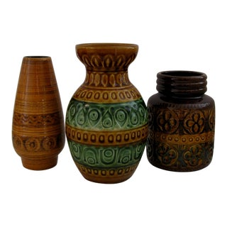 Vintage German Ceramic Vases, Set of 3