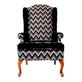 Vintage Upholstered Lacie Wingback Chair