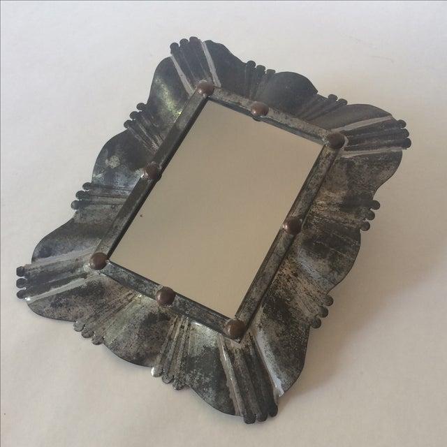 Vintage Tin & Copper Mirror - Image 6 of 11