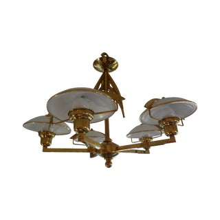 Hollywood Regency Italian Brass Chandelier