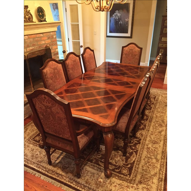 Formal Dining Room Set - Table with 8 Chairs - Image 2 of 9