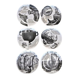 Set Of 6 Piero Fornasetti Plates