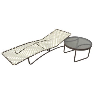 Brown Jordan Sarsota Sun Chaise With Side Table