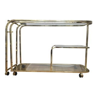 Milo Baughman for DIA Expanding Brass Bar Cart