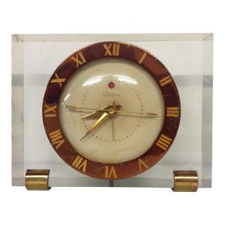 Telechron Mid Century Lucite Floating Clock