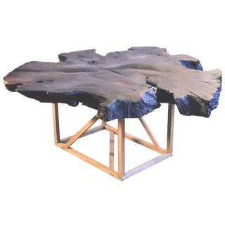 Black Walnut Root Burl Coffee Table