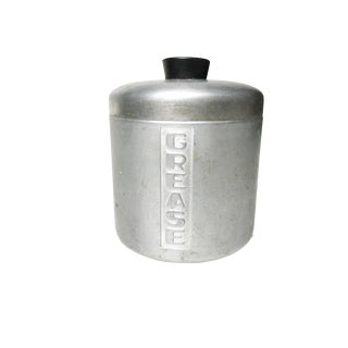Vintage Mid-Century Aluminum Grease Canister
