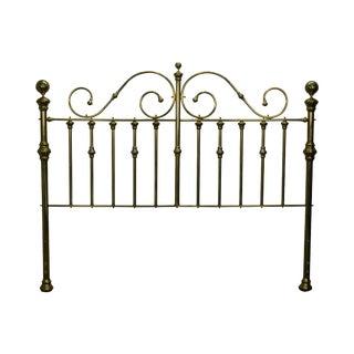 Brass Victorian Style King Size Headboard