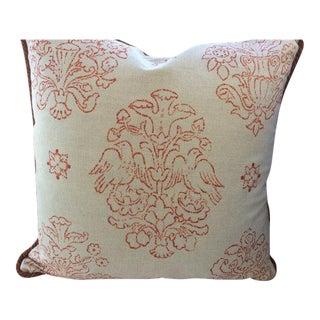 Victoria Hagan Pillows in Marianne Pumpkin Abstract Linen - a Pair