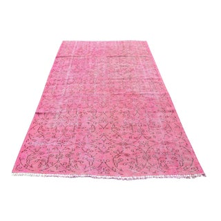 Turkish Overdyed Distressed Rug - 5′ × 8′2″