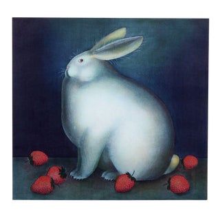 Igor Galanin Rabbit With Strawberries Etching
