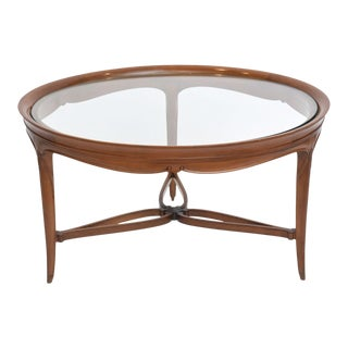Fine Art Deco Mahogany and Glass Low Table, Paul Follot
