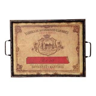 Vintage-Style Italian Licores Tray