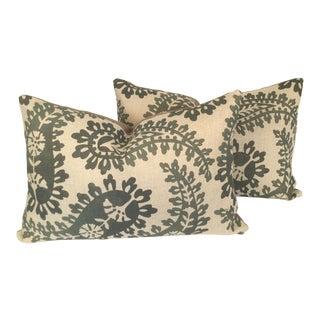 Paisley Lumbar Pillows - A Pair