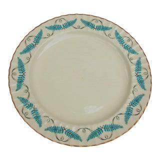 Vintage Turquoise Spode Ferncroft Round Serving Platter